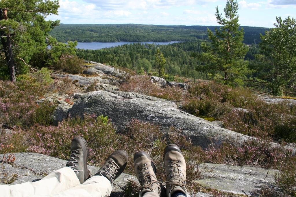 7 km uitzicht vanaf de heuvelkam Sörknatten