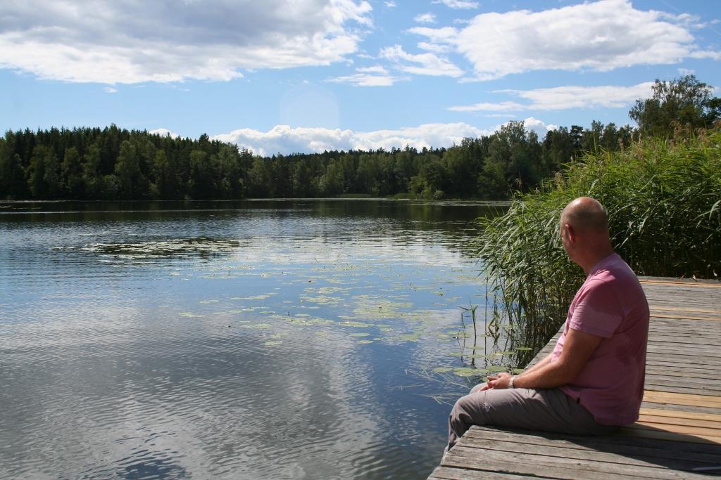 Arboga: Naar de sluizen van het Hjälmare kanaal